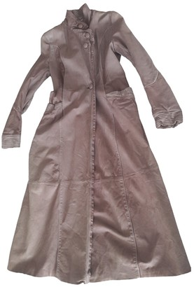 Marni Camel Leather Coat for Women