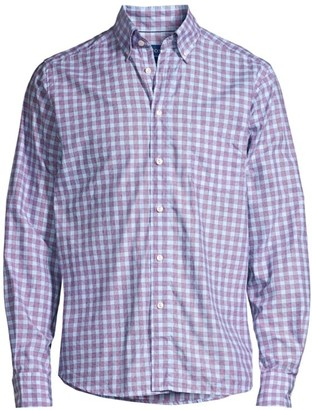 Eton Contemporary-Fit Plaid Sport Shirt