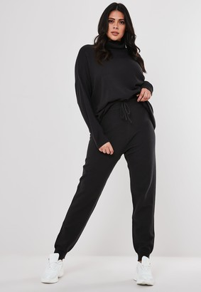 Missguided Plus Size Dark Grey Co Ord Knitted Leggings
