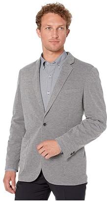 Southern Tide James Island Heather Knit Sports Jacket (Heather Steel Grey) Men's Coat