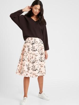 Banana Republic Pleated A-Line Skirt