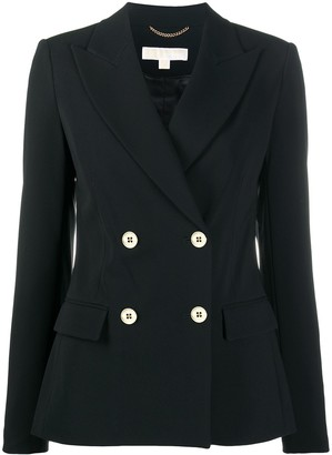 MICHAEL Michael Kors Double-Breasted Fitted Blazer