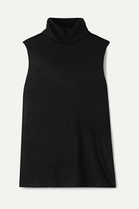 The Row Clovis Stretch-cashmere Turtleneck Top - Black