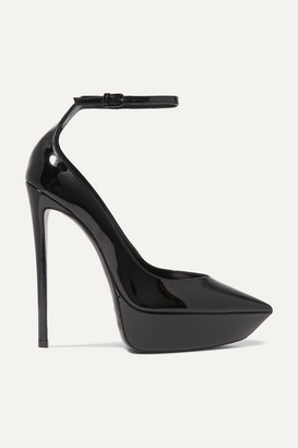 Saint Laurent Betty Patent-leather Platform Pumps - Black