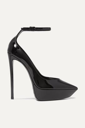 Saint Laurent Betty Patent-leather Platform Pumps - Black
