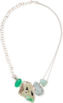 Melissa Joy Manning 14-karat Gold And Sterling Silver Multi-stone Necklace - one size