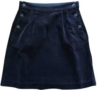 Margaret Howell Black Velvet Skirt for Women