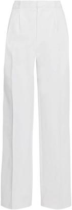 Frame Scalloped Cotton-blend Straight-leg Pants