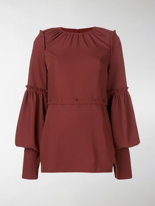 Rokh Panelled Ruffle Trim Blouse
