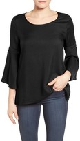 Women's Pleione Lace Inset Bell Sleeve Blouse