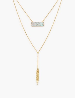 Lucky Brand Two Layer Stone Necklace