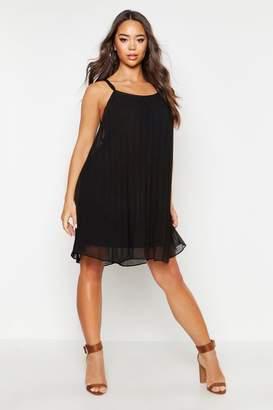 boohoo Chiffon Pleated Swing Dress