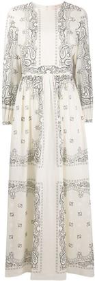 Tory Burch Bandana-Print Midi Dress