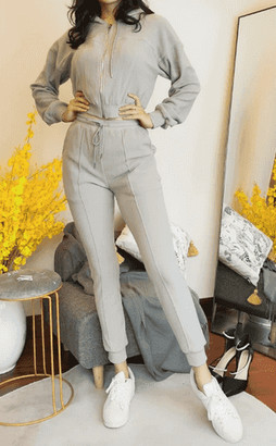 Pretty Darling Grey Sweat Pant Jogger