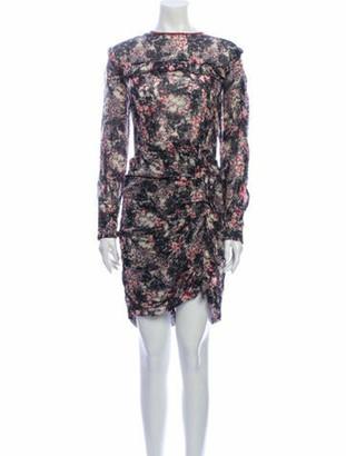 Etoile Isabel Marant Floral Print Knee-Length Dress Grey