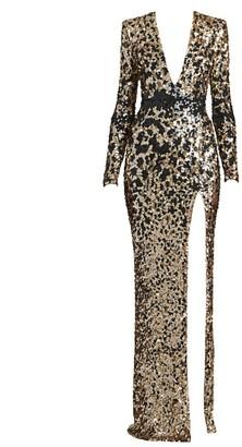 ZUHAIR MURAD Appaloosa Sequin Column Dress