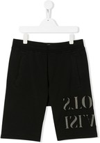 Stone Island Junior TEEN logo shorts