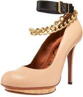 Ankle-Strap Chain Pump