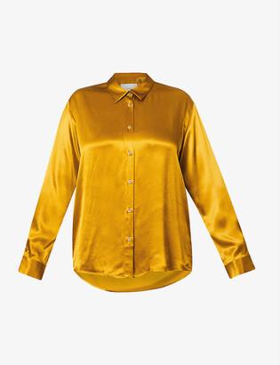 ASCENO Milan oversized silk pyjama shirt