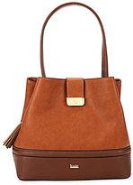 Kate Landry Tassel Trapunto Hobo Bucket Bag
