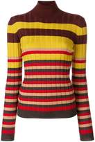 Marni striped turtle neck sweater