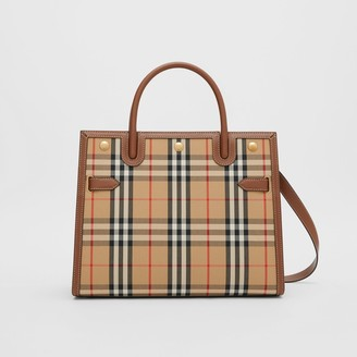 Burberry Medium Vintage Check Two-handle Title Bag