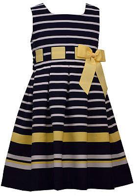 Bonnie Jean Little Kid / Big Kid Girls Sleeveless Striped A-Line Dress