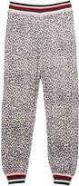 Splendid Girl's Leopard Knit Jogger Pants, Size 7-14