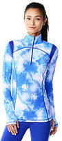 Lands' End Women's Speed Half-zip Pullover-Electric Blue Colorblock