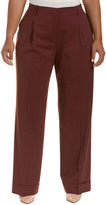 Lafayette 148 New York Plus Rivington Wool-Blend Pant