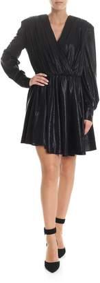 MSGM Shiny V-neck Dress