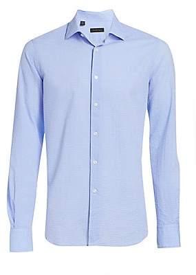 Saks Fifth Avenue Long Sleeve Seersucker Woven Shirt