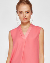 Ted Baker Sleeveless pleated detail top