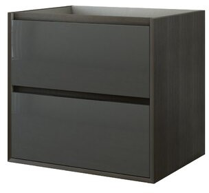 "Swiftsure 24"" Single Bathroom Vanity Base Only Orren Ellis Base Finish: Dark Oak / Anthracite"