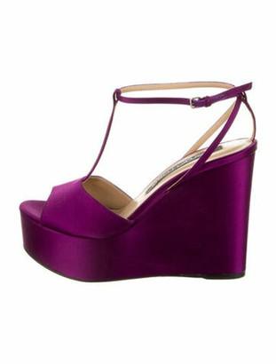 Sergio Rossi T-Strap Sandals Purple