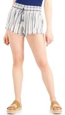 Thumbnail for your product : Rewash Juniors' Striped Frayed-Hem Shorts