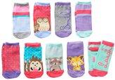 Pink Cookie Girls 9-pk. Lurex Animal Low-Cut Socks