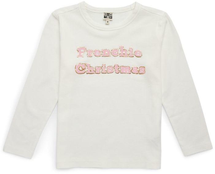 Bonton Frenchie Christmas Graphic T-Shirt (4-12 Years)