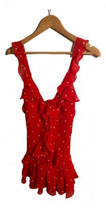 For Love & Lemons Red Polyester Dresses