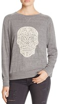 Nation Ltd. Crochet Skull Raglan Pullover - 100% Bloomingdale's Exclusive