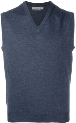Corneliani Fine Knit V-Neck Vest