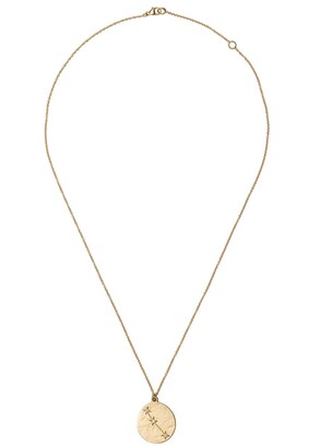 Brooke Gregson 14kt yellow gold Aries diamond pendant necklace