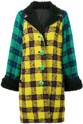 Versace Pre Owned 1990's Oversized Checked Coat