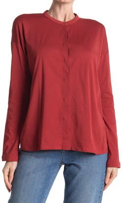 Eileen Fisher Mandarin Collar Boxy Top