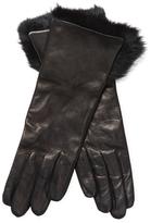 Leather Fur Cuff Gloves