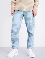 MHI Camouflage regular-fit cotton trousers