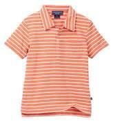 Toobydoo Skate Orange Striped Polo (Baby Boys)