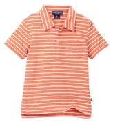 Toobydoo Skate Orange Striped Polo (Toddler & Little Boys)