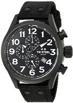 TW Steel Men's 'Volante' Quartz Stainless and Nylon Dress Watch, Color:Black (Model: VS43)
