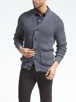 Banana Republic Ribbed Shawl-Collar Cardigan